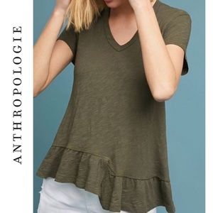 Anthropologie Left of Center Belmond Tie-Back Tee
